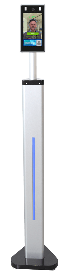 Image of free standing PASS face scanning device