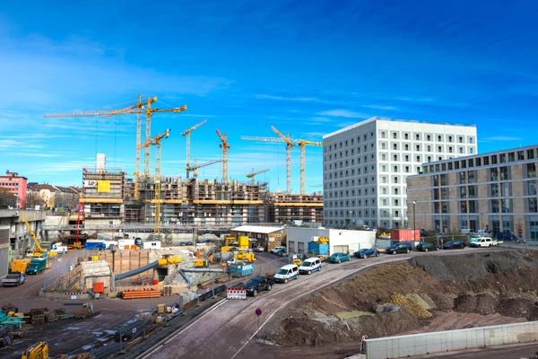 Image of large construction site