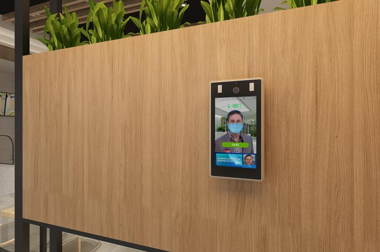 Image of Wall mounted PASS face scanning device